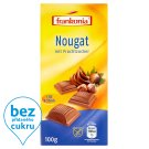 Frankonia Diät Nougat Milk Chocolate with Nougat Filling with Fructose 100g