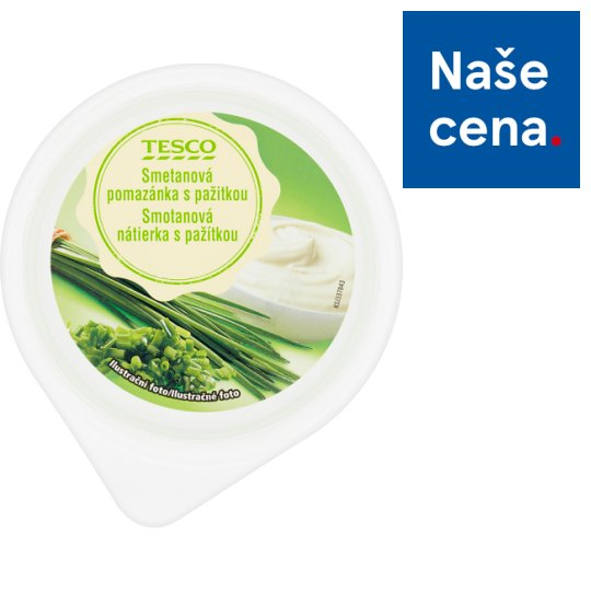 Tesco Cream Spread with Chives 150g