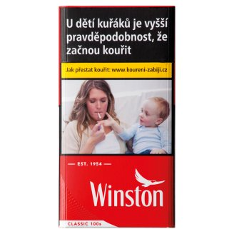 Winston Classic Red 100 cigarety s filtrem 20 ks