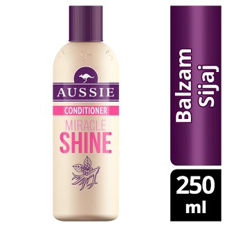 Aussie Miracle Shine Balzám Pro Matné Vlasy Bez Lesku 250ml