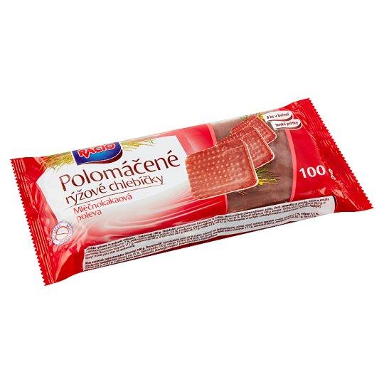 Racio Polomáčené rýžové chlebíčky s mléčnokakaovou polevou 100g