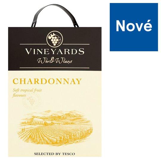 Vineyards World Wines Chardonnay bílé suché víno 3l