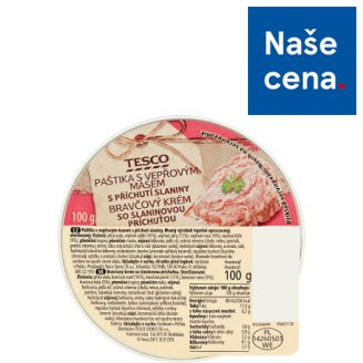 Tesco Pate with Pork Meat and Bacon Flavor 100g