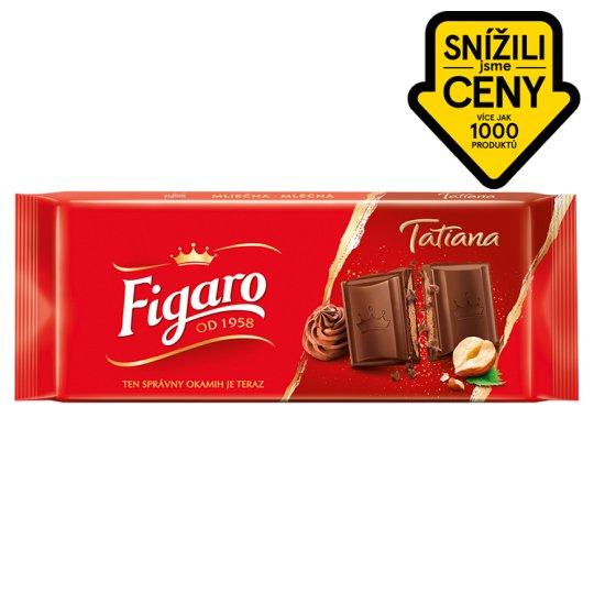 Figaro Tatiana Mléčná čokoláda s lískooříškovou náplní 90g