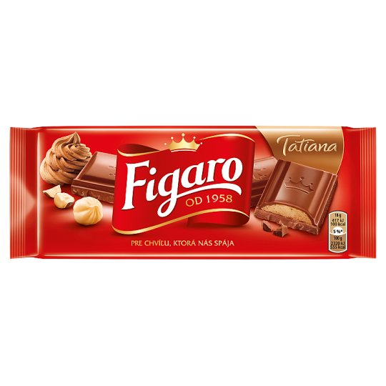 Figaro Tatiana Milk Chocolate with Hazelnut Filling 90g