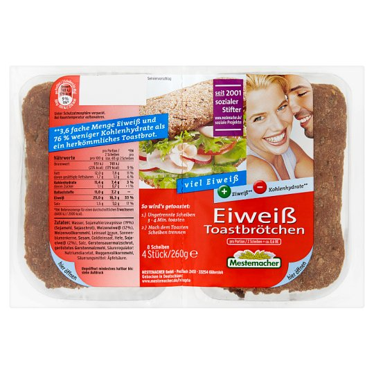 Mestemacher Protein Toast 260g