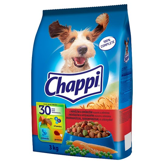 Chappi with Beef, Poultry Meat and Vegetables 3kg