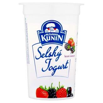 Mlékárna Kunín Selský jogurt lesní ovoce 200g
