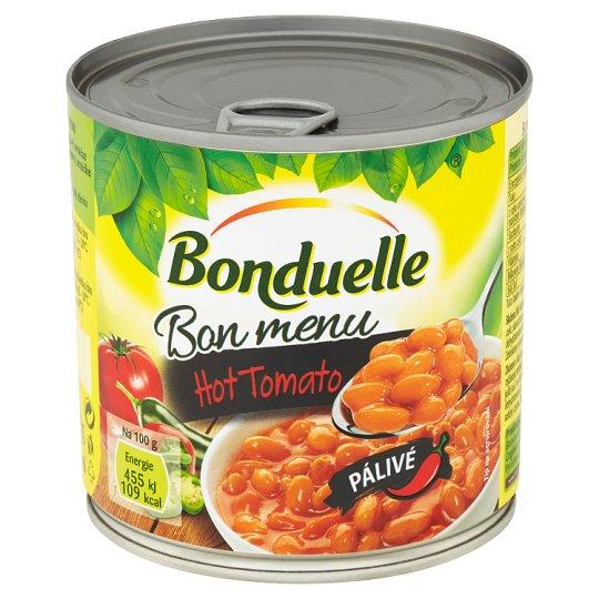 Bonduelle Bon Menu Bílé fazole v rajčatové omáčce pálivé 430g