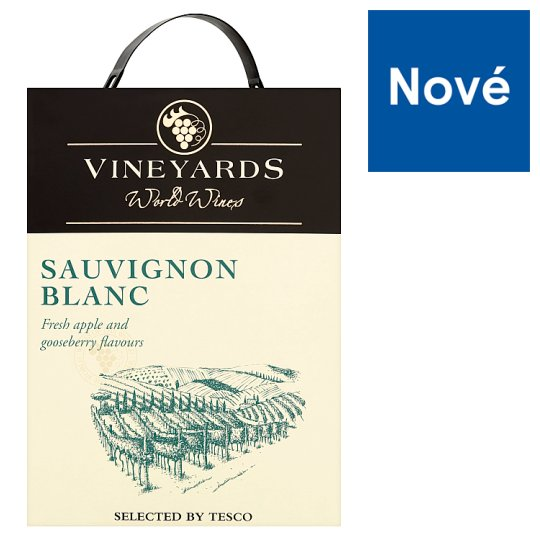 Vineyards World Wines Sauvignon Blanc White Dry Wine 3L