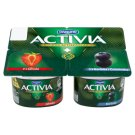 Danone Activia Yogurt with Bifidoculture Strawberry/Blueberry 4 x 120g