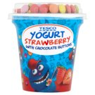 Tesco Yogurt with Strawberry Flavor and Dragee of Milk Chocolate 107g