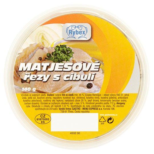 Rybex Herring Slices with Onion 140g