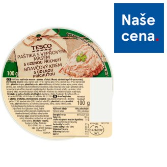 Tesco Pate with Pork Meat and Smoked Flavor 100g