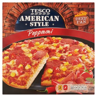 Tesco American Style Pepperoni 404g