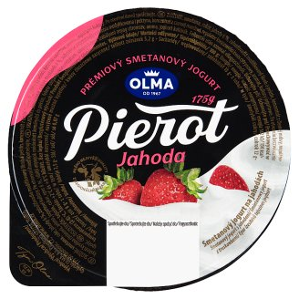 Olma Pierot Creamy Yoghurt with Strawberries 175g