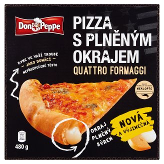Don Peppe Pizza s plněným okrajem quattro formaggi 480g