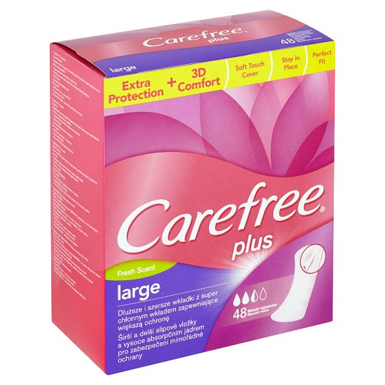 Carefree Plus Large Fresh Scent Pantyliners 48 pcs