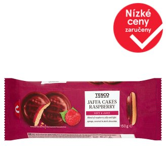 Tesco Jaffa Cakes with Raspberry Jelly Covered in Dark Chocolate 150g