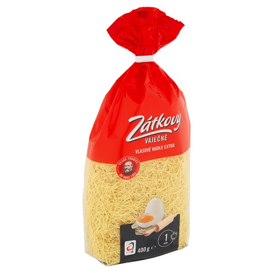 Zátkovy Válcované Nudle Extra Thin Noodles 400g