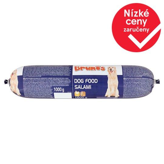 Brunos Dog Food Salami with Poultry 1000g
