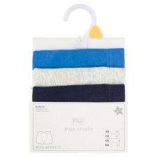 image 1 of F&F Boys' Blue Boxers 3 pcs in Pack, 5-6 Years, Blue