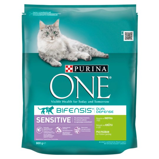 Purina ONE Sensitive Rich in Turkey and Rice 800g