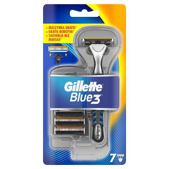 Gillette Blue3 Pánský Holicí Strojek + Holicí Hlavice, 7 ks