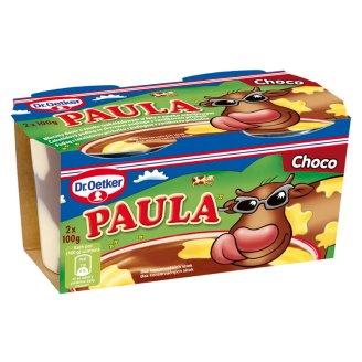 Dr. Oetker Paula Pudingový dezert s čokoládovo-vanilkovou příchutí 2 x 100g