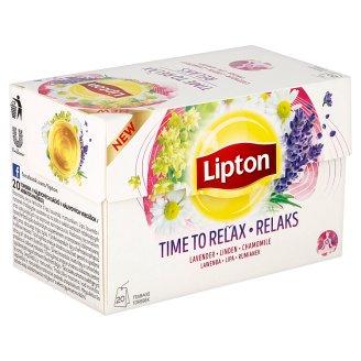 Lipton Bylinný aromatizovaný čaj Time to relax 20 sáčků