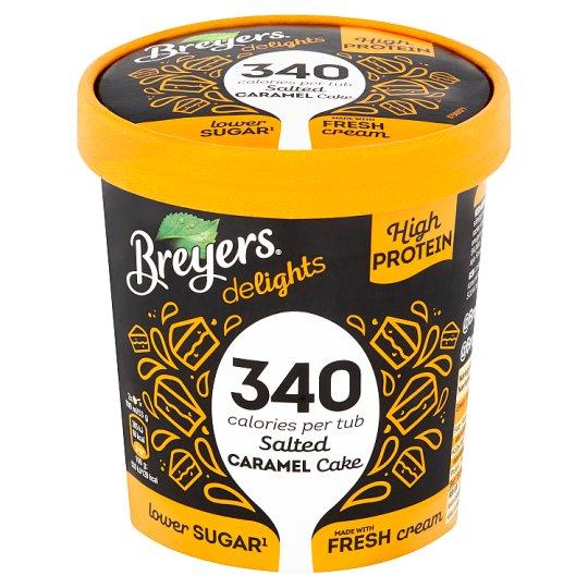 Breyers Delights Salted Caramel Cake proteinová zmrzlina v kelímku 500ml