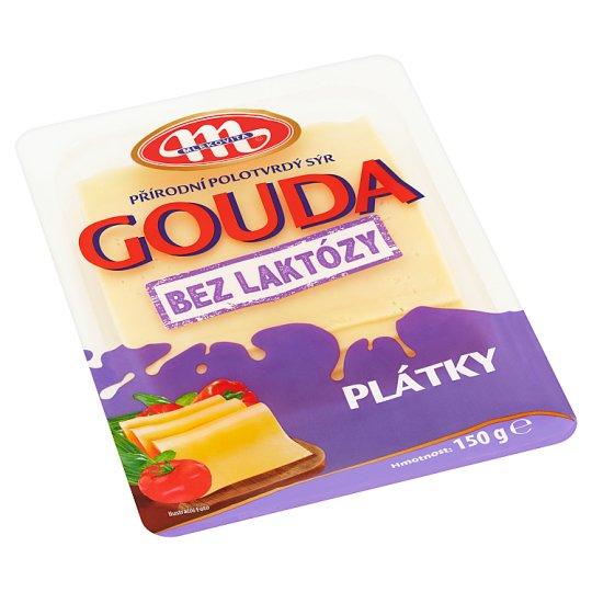 Mlekovita Přírodní polotvrdý sýr gouda bez laktózy plátky 150g