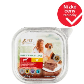 Tesco Pet Specialist Dog Food Pate with Beef and Chicken 300g