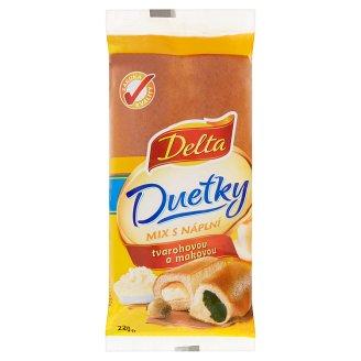 Delta Duetky mix s náplní tvarohovou a makovou 220g
