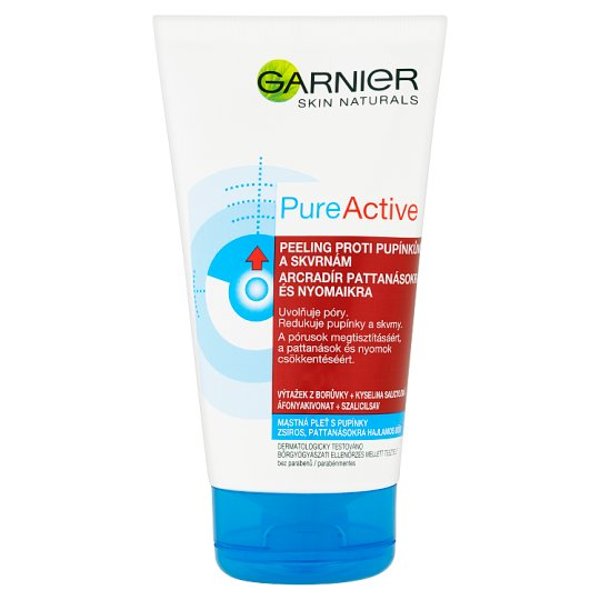 Garnier Skin Naturals Pure Active peeling proti pupínkům a skvrnám 150ml