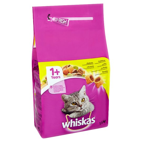 Whiskas Complete Food for Adult Cats with Chicken 1.4kg