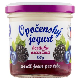 Bohemilk Opočenský Jogurt Blueberry Blackberry Yoghurt 150g