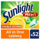 Sunlight All in 1 Citrus Tablety do myčky nádobí 52 ks 910g