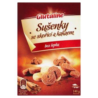 Glutaline Sušenky se skořicí a kakaem bez lepku 140g