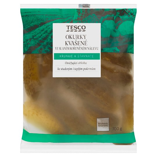Tesco Cucumbers Fermented in Spicy Brine 700g