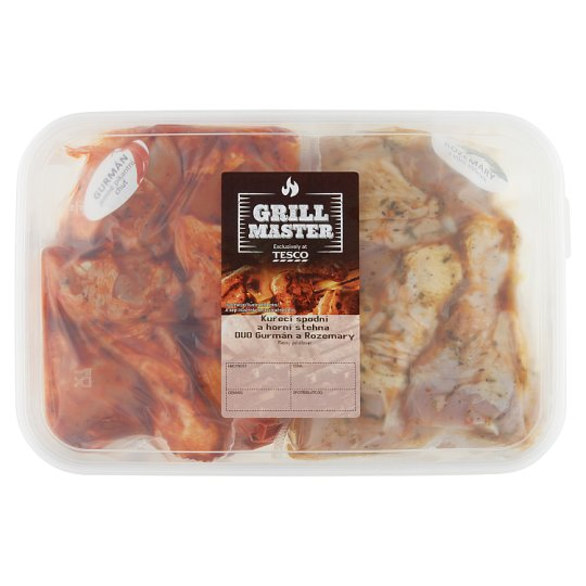 Tesco Grill Chicken Upper and Lower Thighs Marinated Duo without E