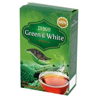 Tesco Zelený a bílý sypaný čaj 80g