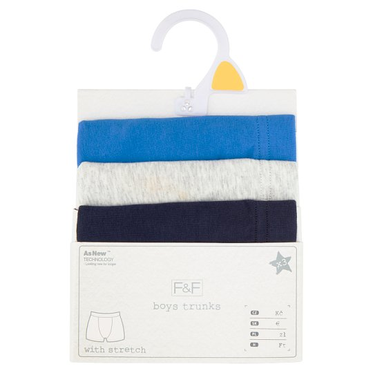image 1 of F&F Boys' Blue Boxers 3 pcs in Pack, 6-7 Years, Blue