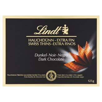 Lindt Swiss Thins Dark Chocolate 125g
