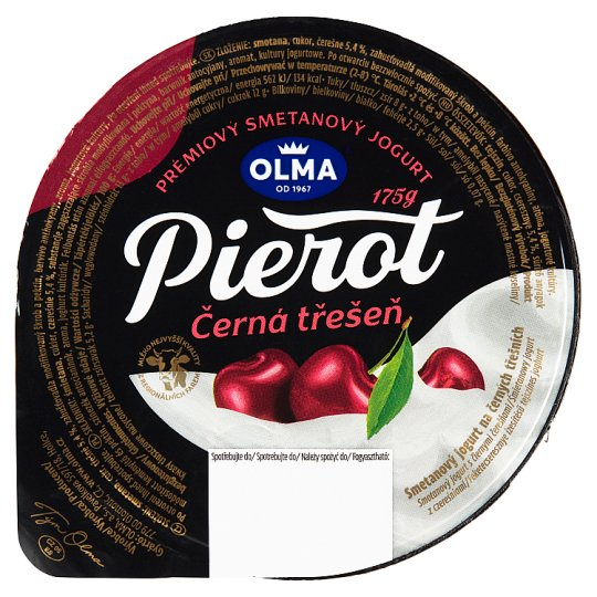 Olma Pierot Creamy Yoghurt with Black Cherries 175g