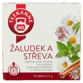 TEEKANNE Stomach and Intestines, Herbal Tea, 10 Bags, 20g