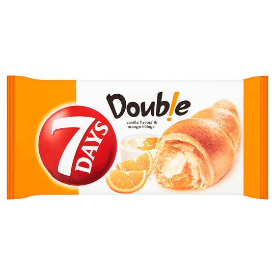 7 Days Double Croissant with Vanilla Flavour and Orange Fillings 60g