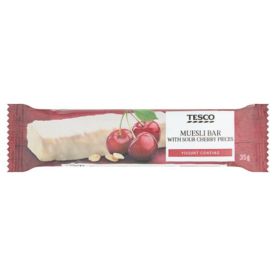 Tesco Muesli Bar with Sour Cherry Pieces Yogurt Coating 35g