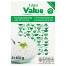 Tesco Value Long Grain Rice in Boiling Bags 4 x 100g