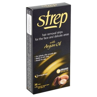 Strep Hair Removal Strips for the Face and Delicate Areas with Argan Oil 20 pcs